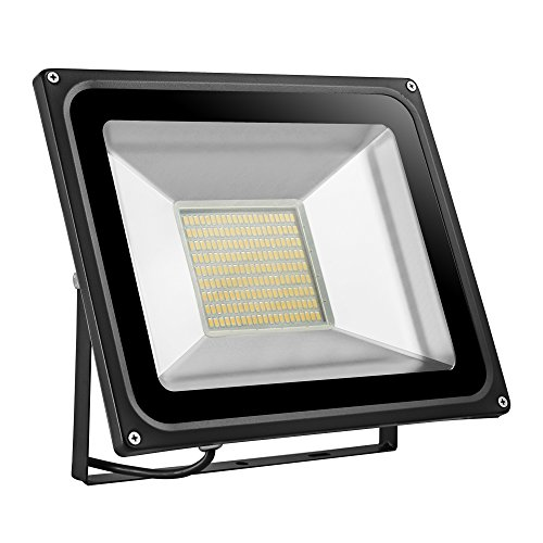 CHUNNUAN LED Flood Light 10W 20W,30W 50W,100W,150W,200W, 300W,500W Waterproof, IP65, Instant On,CE and ROHS Certified Aluminium Strahler 110V (100w warm)