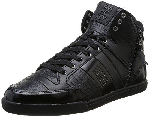 Jim Rickey  Carve Mid Z,  Sneaker uomo Nero Noir (Crocodile) 41