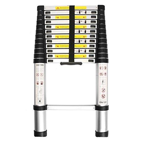 Leapair 12.5ft Telescoping Ladder Aluminum Telescopic Extension Tall Multi Purpose