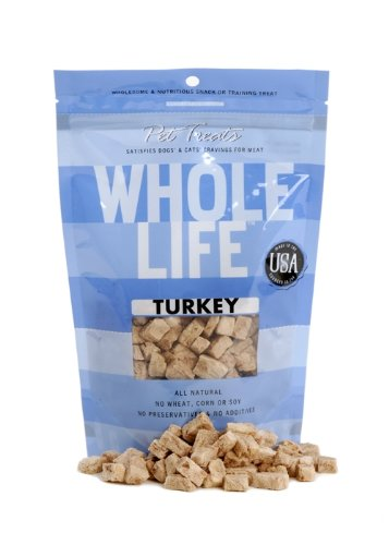Whole Life Pet Pure Meat All Natural Freeze Dried Turkey Treats 4 oz