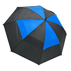 Buy ProActive Sports Windcheater Umbrella, Black Blue, 62-Inch by Pro Active