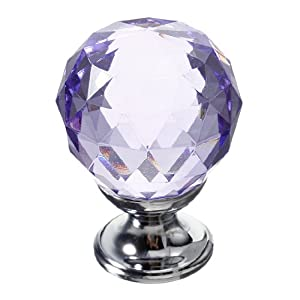 10X 30mm Clear Crystal Glass Door Knobs Diamond Drawer Cabinet Kitchen from The end Co,.Ltd