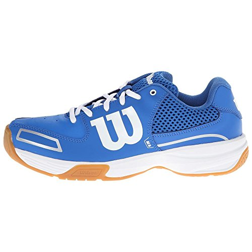Wilson - Storm, Scarpe Da Tennis, unisex, multicolore (blau/weiß), 42