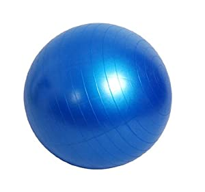 "30"" 75cmYoga Ball Exercise Body Balance Ball Pilate Ball Fitness Ball Gym Sports Yoga Products Blue"