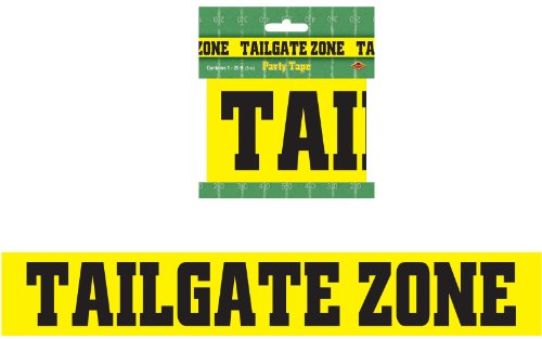 Tailgate Zone Party Tape Party Accessory (1 count) (1/Pkg)