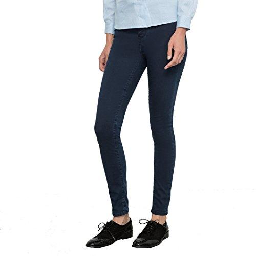 School Rag Donna Jeans Skinny A Vita Alta Taglia 31 Blu