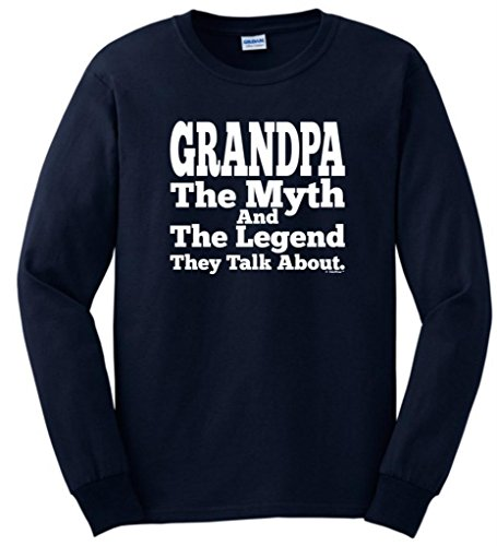 Grandpa The Myth And The Legend They Talk About Long Sleeve T-Shirt 2Xl Navy front-214870