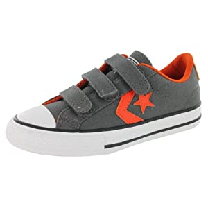 Converse Boys' Chuck Taylor Star Player EV3 Canvas Sneaker Charcoal 2 M US