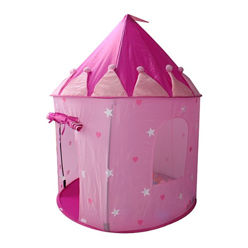 Girls Pop up Play House Pink Castle Toys & Games