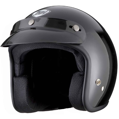 THH T-380 Plain Open Face Helmet M Black