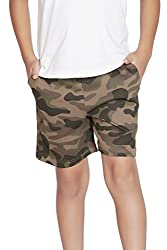 Clifton Boys Army Shorts -Walnut-M