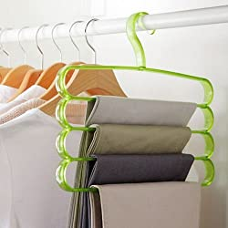 Evana Clothes Hangers 4-layer Trousers Pants Holder Racks Scarf Clothes Organiser (Multicolor)