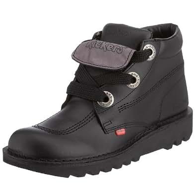 Kickers Kick Hi Phat Black Leather Ankle Boots-7
