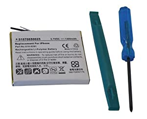 Replacement iPhone Battery with Tool - 1400mAh 1st Gen