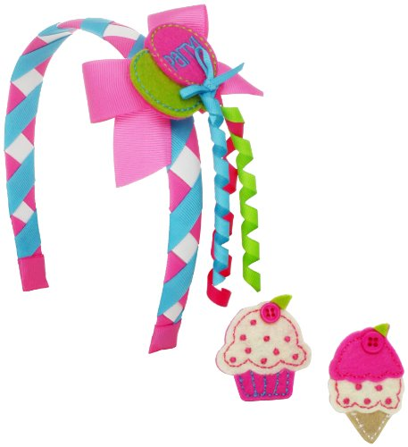 Mud Pie Baby-Girls Newborn Birthday Snap Headband Set, Multi Colored, One Size
