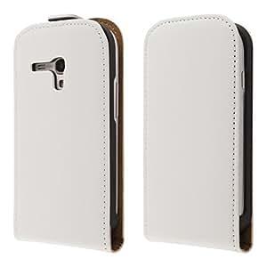 ECENCE 11010405 Samsung Galaxy S3 mini i8190 handy tasche flip case klapp schutz hülle cover weiss inklusive Displayschutzfolie