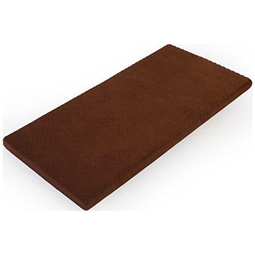 高反発マットレス 【硬め282N】 厚10cm リバーシブル加工 カバー付き シングル ブラウン