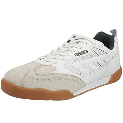 Hi-Tec  Squash Classic,  Chaussures tennis mixte adulte - Blanc (Blanc / Vert), 35 EU