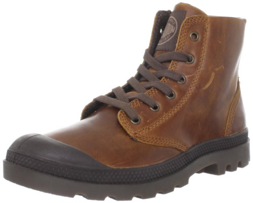PALLADIUM Men's Pampa Hi Leather-m Sunrise/Chocolate Walking Boot 02355-237-M 10 UK