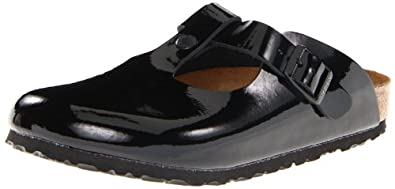 Birkenstock Women's Bern Patent Leather Clog,Black Patent,36 N EU