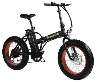 "MONSTER 20 - The Folding Electric Bike - Wheel 20"" - Motor 500W, 48V-12ah - LCD on-board computer with 9 help levels - Chassis: Aluminium"