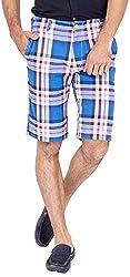 Urbantouch Men's Cotton Shorts(4674, Blue, 36)