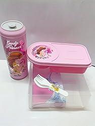 Nayasa Fantastic Kids Lunch Box Set, 2-Pieces, Pink