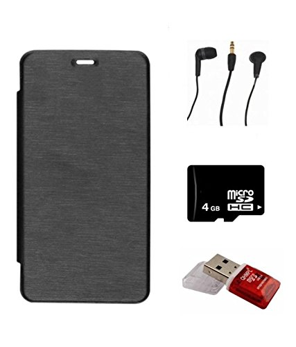 KTC Xiomi Red Mi4 Combo(Flip Cover,4GB Memory Card,Handfree,Card Reader)