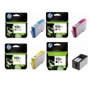 ORIGINAL HP 920XL SET 4 BLACK CYAN MAGENTA YELLOW