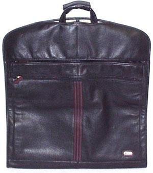 Land Classic Leather Garment Bag - Black