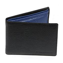Bonjour Mens Blue & Black Leather Wallet_RUA4R7022