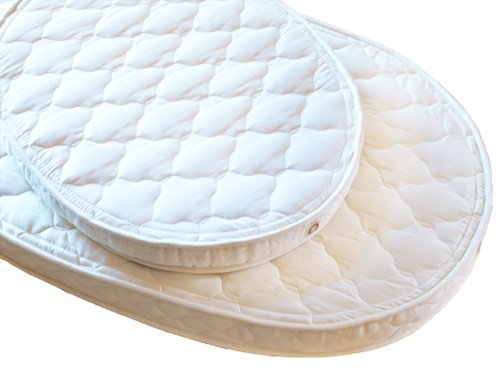 Lifekind Baby Natural Rubber Organic Oval Bassinet Mattress (23x29x2.5