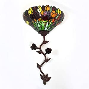 Exciting Lighting DS1006 Battery Powered Stained Glass LED