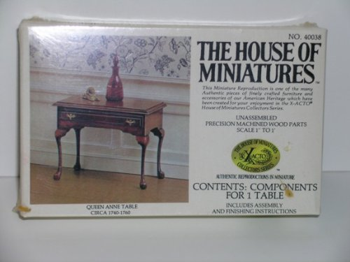Dollhouse Miniature Queen Anne Table Kit