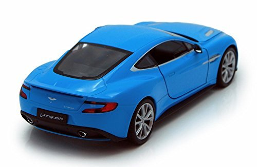 Welly Aston Martin Vanquish 1/24 Scale Diecast Model Car Blue