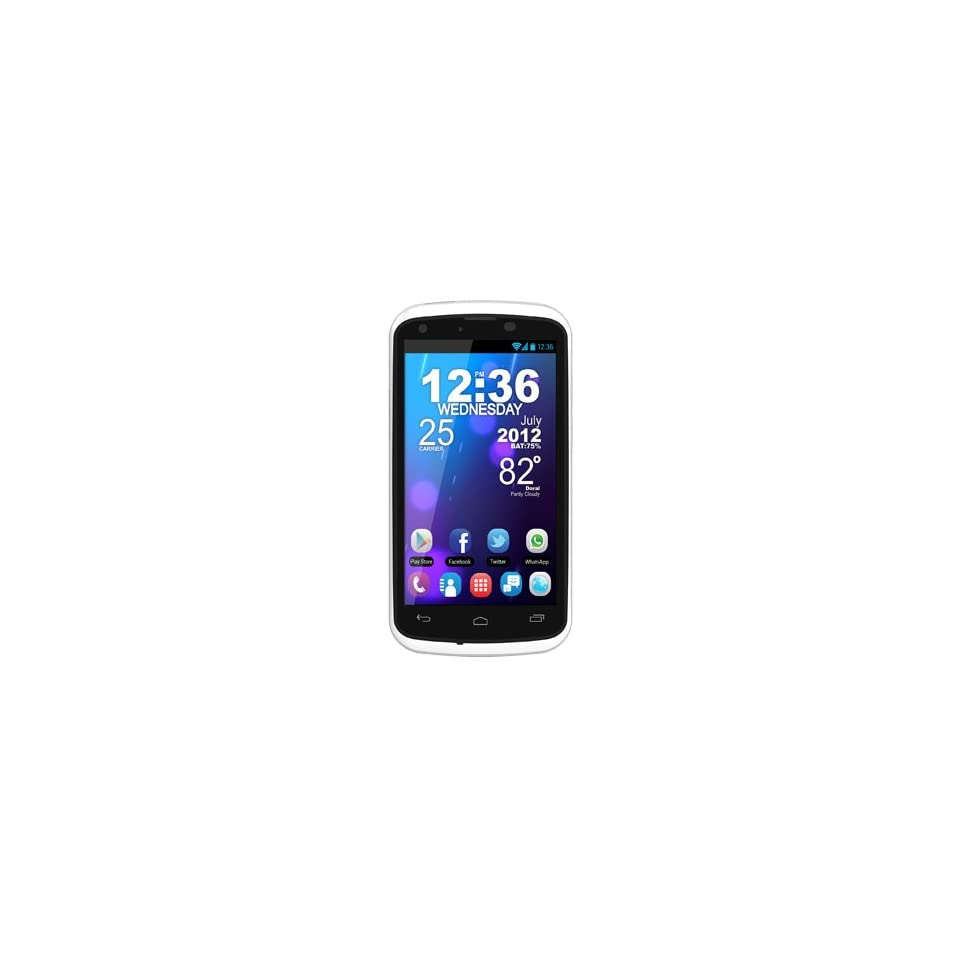 BLU   Tank 4.5 W110a Unlocked GSM Dual SIM Android Cell Phone   White