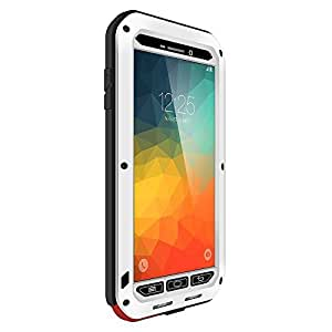 VEGO Samsung Galaxy Note 5 Heavy Duty Science Hybrid Premium Metal Aluminum Structures Water Resistant/Dirt/Shockproof/Dust Proof Case Cover for Samsung Galaxy Note 5 (2015 Release) - White