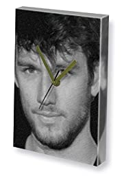 ALEX PETTYFER - Canvas Clock (LARGE A3 - Signed by the Artist) #js001
