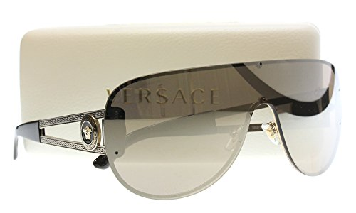 Versace Shield Sunglasses VE 2166 12525A Pale Gold