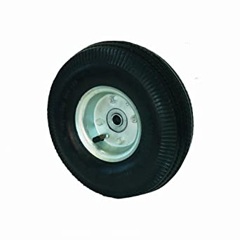"RWM Casters FN2 10"" 4-Ply Full Pneumatic Hand Truck Wheel, 2-3/4"" Width, 5/8"" Axle, 500 lbs Capacity"