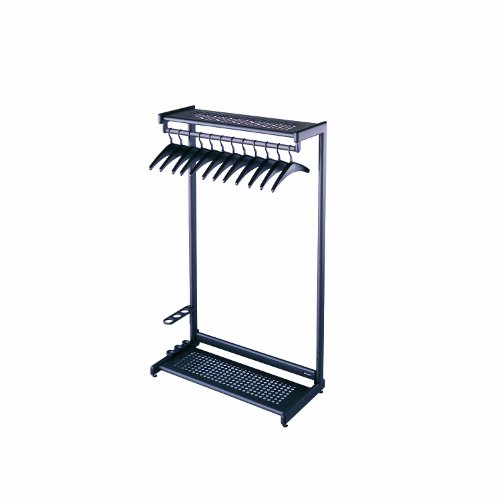 Quartet Two-Shelf Garment Rack, Freestanding, 48 Inch, Black, 12 Hangers Included (20224) (Quartet Coat Rack compare prices)
