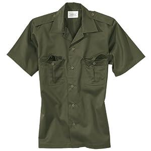 US Tactical Combat Short Sleeve Mens Shirt Surplus Olive OD by Surplus