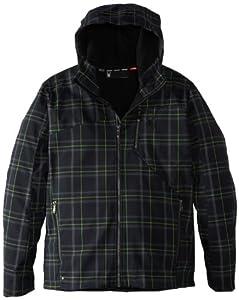 Spyder Men's Patsch Novelty Hoody Soft Shell Jacket, Mantis Flatiron Print, Small