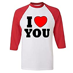 I Love You Raglan Baseball T-Shirt