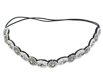 Handmade Rhinestone Crystal Beaded Elastic Fashion Headband Hair Band Accessory