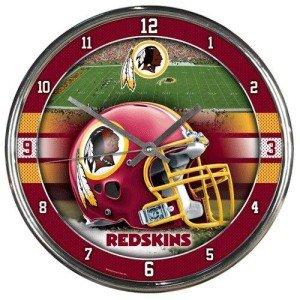 NFL Washington Redskins Chrome Clock