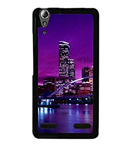 printtech Boat City River Building Back Case Cover for Lenovo A6000