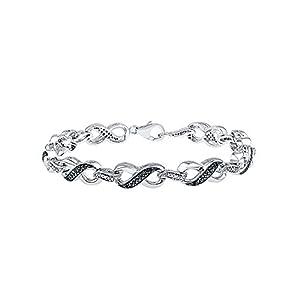1/10 ct. tw. Black & White Diamond Infinity 7 1/4