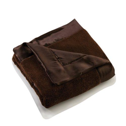 Elegant Baby Plush Microfiber Blankie - Chocolate