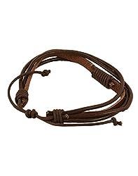 Tiekart Brown Plain Men Bracelet/Cuffs